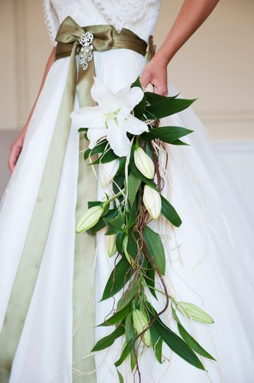 Lily bouquet close up