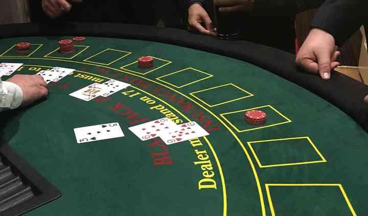 Blackjack fun casino hire at A
