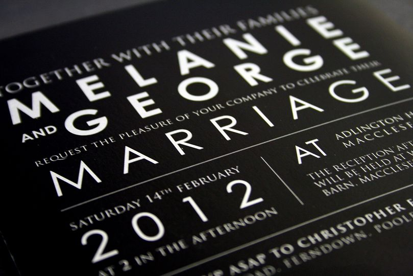 Invitation - Modern Type