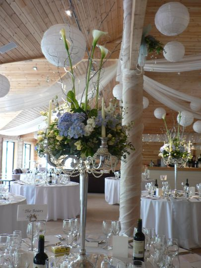 Candelabras at Styal Lodge