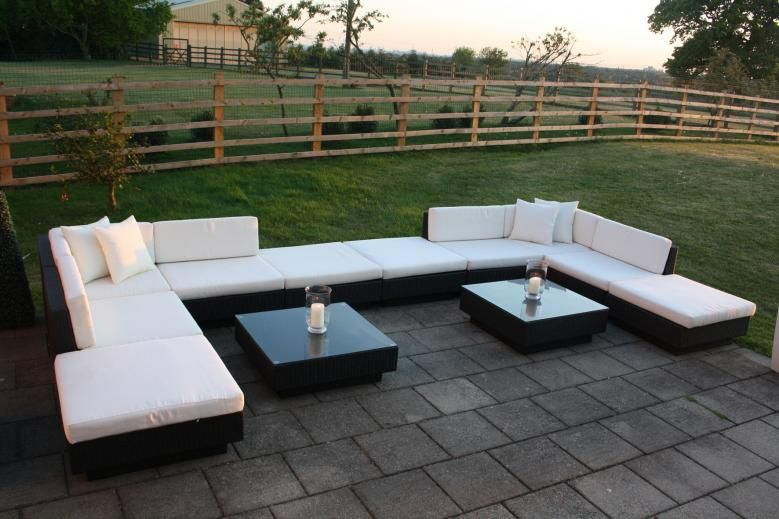 Outdoor sofa area