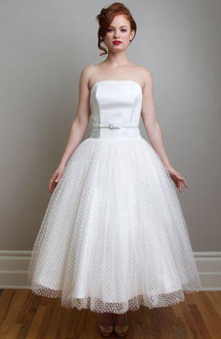 Tea length wedding gown-Emily