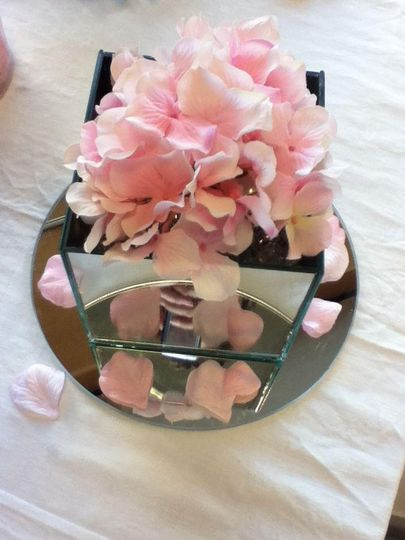 Centrepiece with flowers