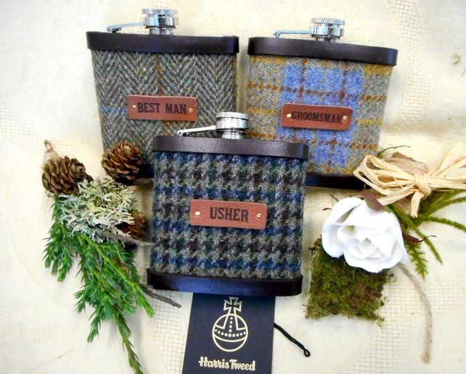 Rustic flasks set of 3