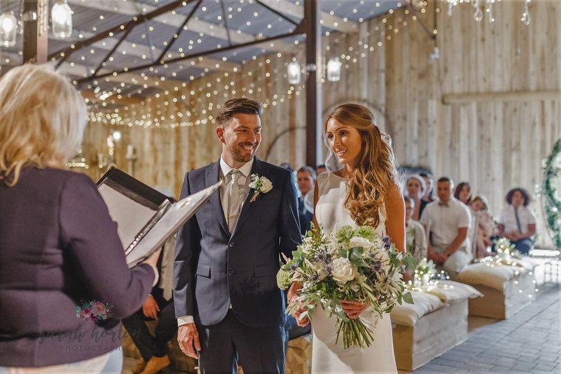 Alcumlow Wedding Barn Ceremony