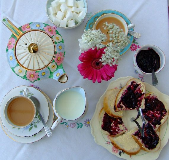 Tea..a Drink With Jam And Bread From Lily And Rose Vintage