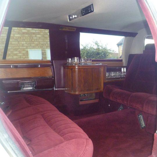 The interior of limousine