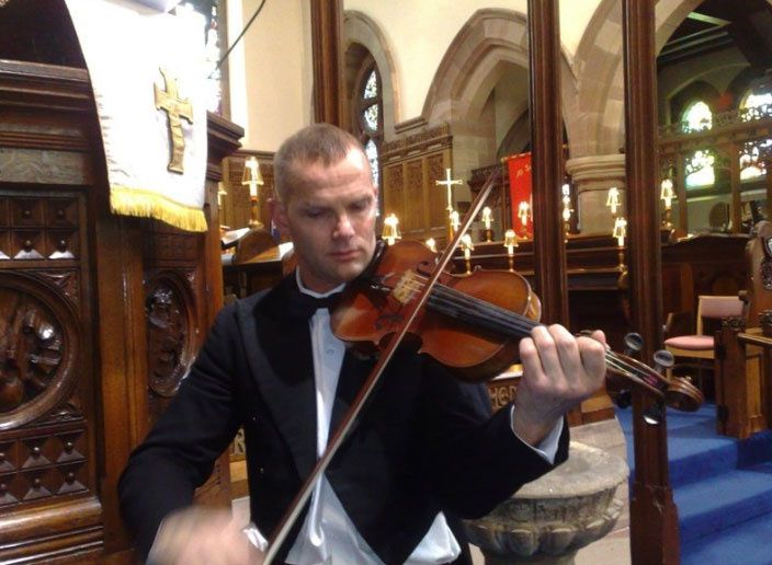 Classically trained violinist