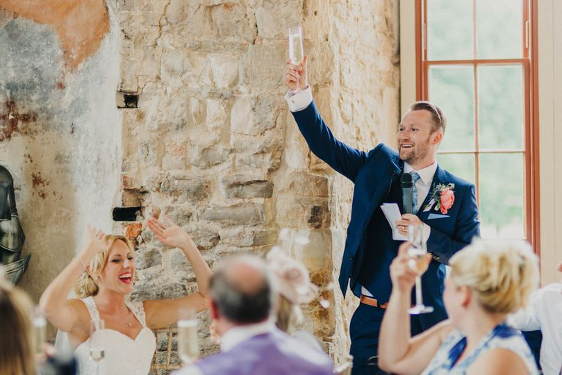 Wedding in Lulworth Castle