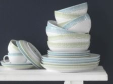 Pop Porcelain Dinner Service - Aegean Blue