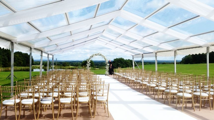 Clear roof ceremony marquee