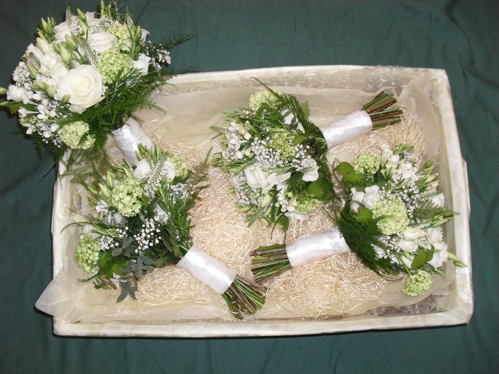 Bridal Flowers all packaged