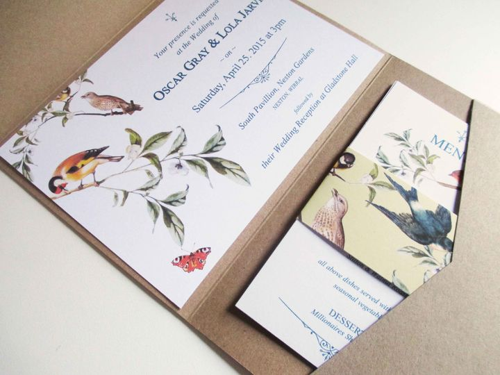 Garden bird pocketfold suite