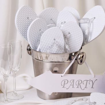 Wedding Flip Flop Basket