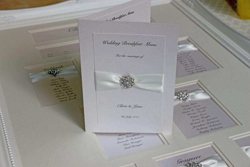 Luxury reception stationery