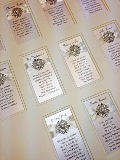 Luxury framed table plan