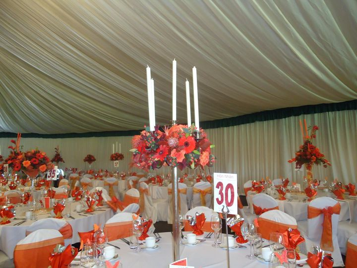 Candlabra in marquee