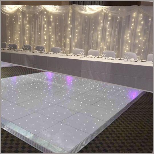Dance floor and backdrop