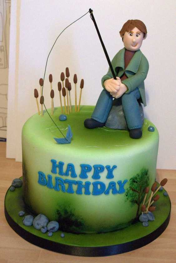 Strange Fishing Cake From Sweeties Cakery Photo 27 Funny Birthday Cards Online Elaedamsfinfo