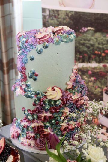 Piped Buttercream Wedding Cake
