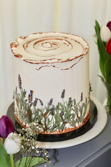 Pressed Lavender Cake
