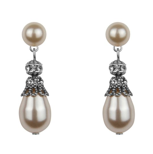 2cff43c4e43597 Rhinestone and Pearl Earrings from Katherine Swaine | Photos
