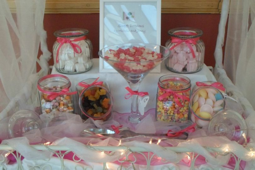Candy cart in pink