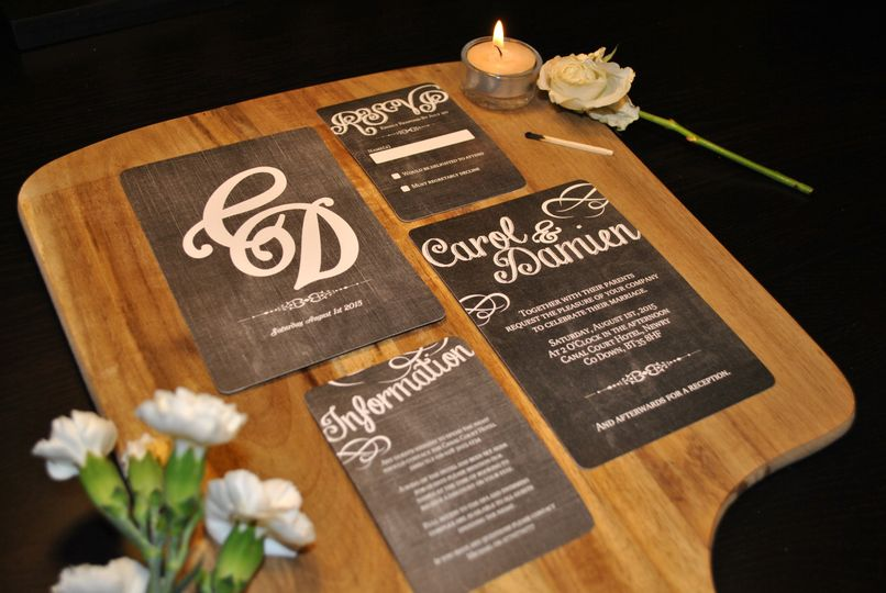 Chalk Board Inspired Invites