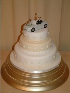 Cake with fun topper