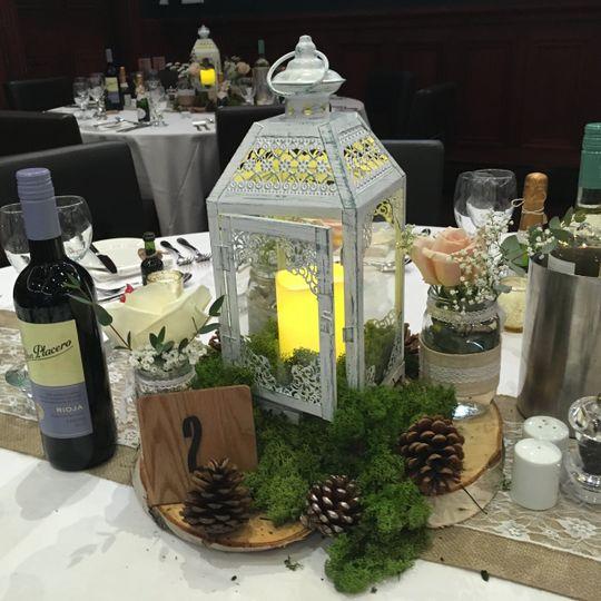 Wedding centrepiece lantern