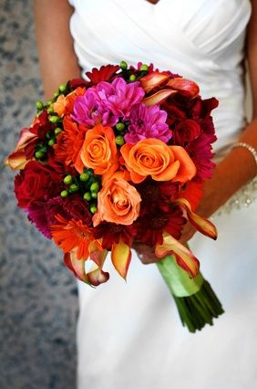 Wide range of bridal bouquets