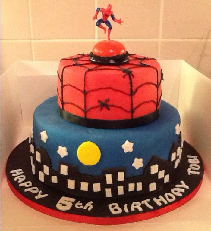Swell Spiderman Birthday Cake From Carolanns Country Kitchen Photo 18 Personalised Birthday Cards Beptaeletsinfo
