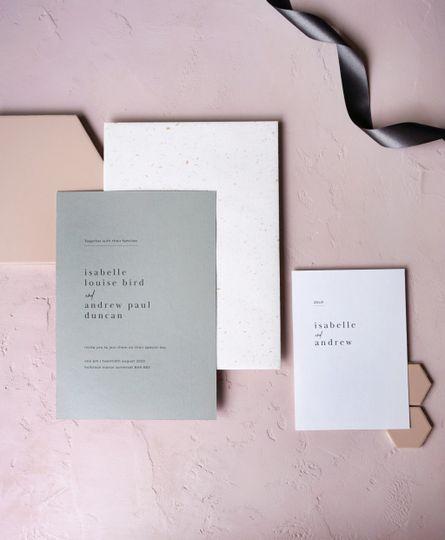 Semi custom wedding stationery