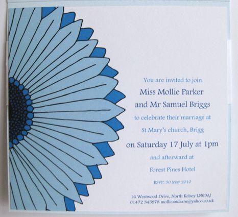 Gerbera Style Invitation