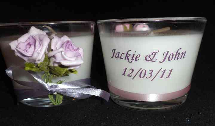 Glass votive personalised