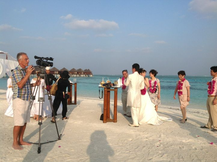 Filming in the Maldives