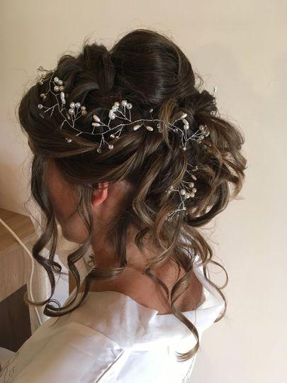 curly cascading bun & plait