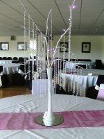 Crystal tree with LED lights ,mirror base hire for only 20.00 pounds each