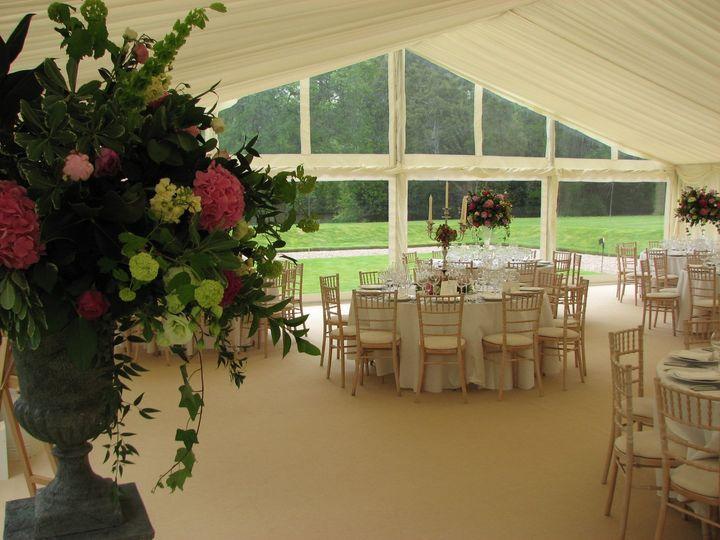 Wedding - marquee interior
