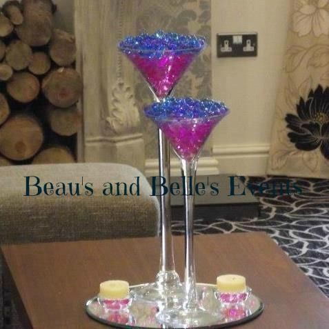 Martini vase display