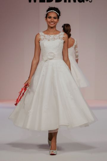 House of mooshki beatrice from cutting edge brides photos for Calf length wedding dresses