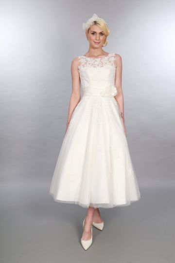 Calf Length Wedding Gown Anara