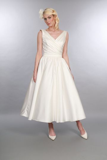 Calf Length Bridal Gown Olivia
