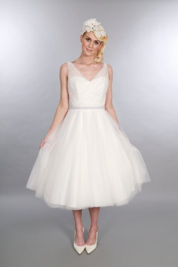 Calf Length Bridal Gown Betsy