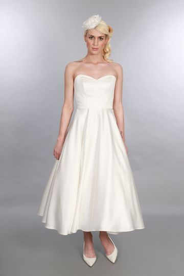 Calf Length Bridal Gown Edith