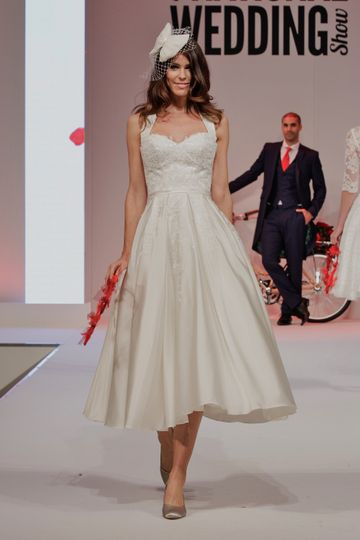 Calf Length Bridal Gown Eliza