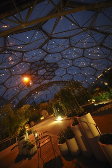 Mediterranean Biome At Night From Eden Project
