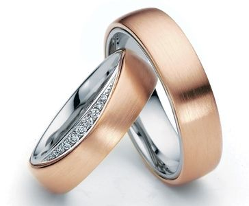 Platinum & 18ct Rose Gold Rings