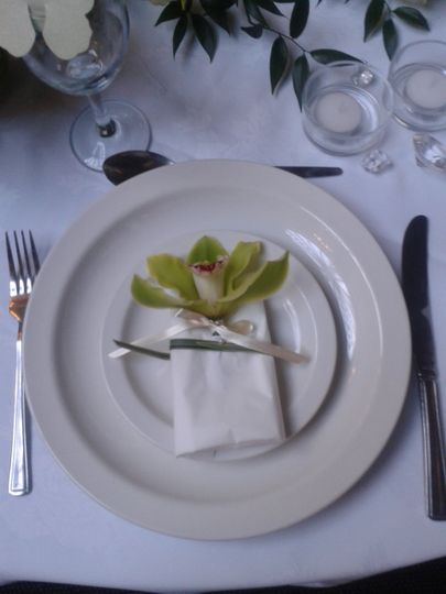 Simple napkin decoration