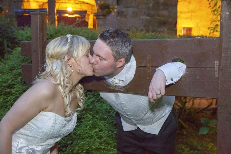 Suprise kiss Lumley Castle